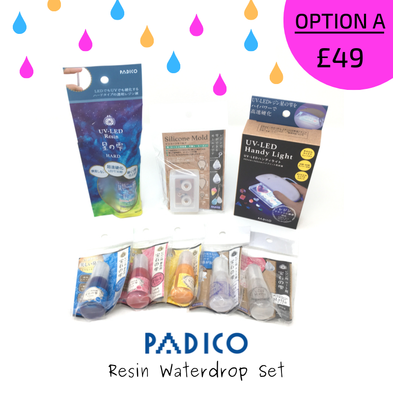Padico Resin Waterdrop Special Edition Materials Set - Option A
