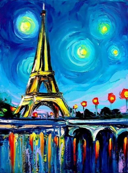 Wizardi Diamond Painting Kit - Paris Colours