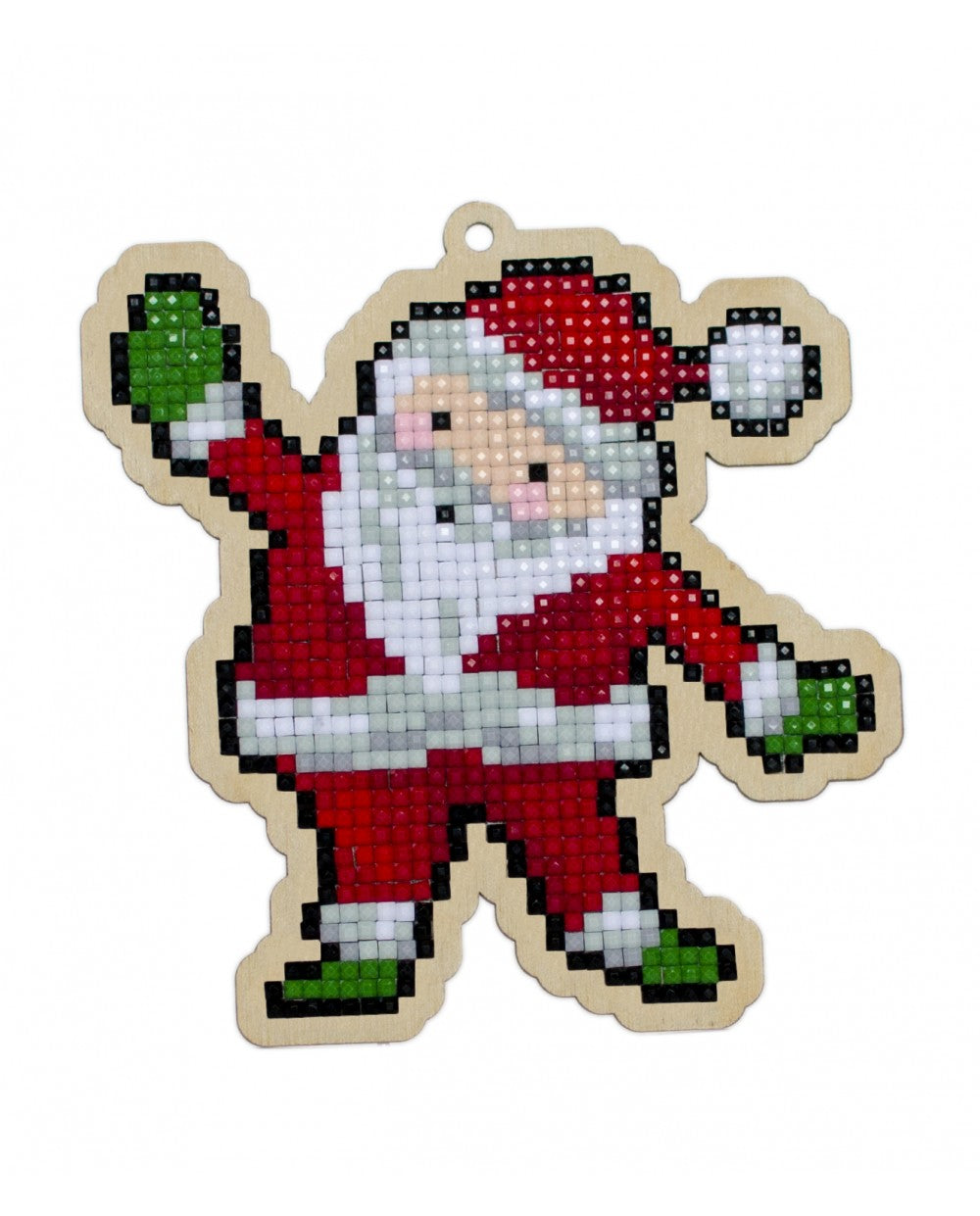Wizardi Wooden Charms Diamond Painting Kit - Santa Claus