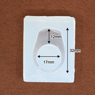 Silicone Ring Mould + Wooden Ring - 17mm Diameter