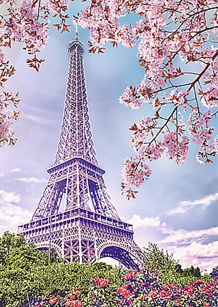 Wizardi Diamond Painting Kit - Spring in Paris
