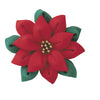 Olympus Tsumami Zaiku Flower Brooch Craft Kit  - Red Poinsettia