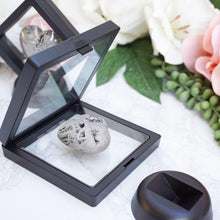 Load image into Gallery: Contempo Crystals - Small Crystal Display Stands. Open stand with crystal heart inside - Image 3