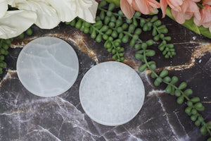Contempo Crystals - Round Selenite Slab - Image 7