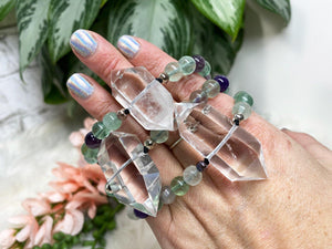 Contempo Crystals - Quartz Point Mala Bracelets - Image 10