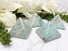 Load image into Gallery: Contempo Crystals - Amazonite Crystal Pyramid Carving - Image 6