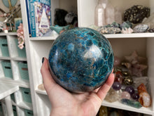 Load image into Gallery: Contempo Crystals - Large Blue Apatite Crystal Sphere Over 4 Inches In Size from Contempo Crystals Instagram Shop - Image 5