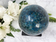Load image into Gallery: Contempo Crystals - Large Blue Apatite Sphere - Image 8