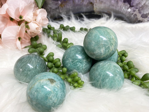 Amazonite Crystal Spheres for Sale