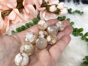 Contempo Crystals - Tiny Flower Agate Crystal Spheres - Image 1