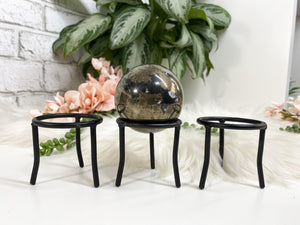 Contempo Crystals - Black Metal Sphere Stand - Image 4