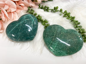 Contempo Crystals - Large Teal Green Aventurine Crystal Hearts - Image 1