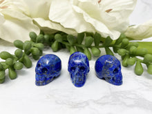 Load image into Gallery: Contempo Crystals - Lapis Lazuli Mini Crystal Skull - Image 1