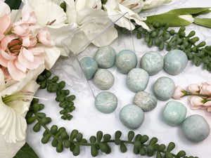 Contempo Crystals - umbles Amazonite is a stone full of calming and protective energy! Common properties--STIMULATING EXPRESSION MEMORY EMOTIONS RELEASING INTUITION LOVE GRIEF CALMING - Image 4