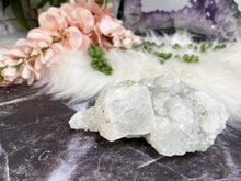 Load image into Gallery: Contempo Crystals - Cute sparkly apophyllite crystal clusters! Apophyllite helps you to start anew, and clear out past emotional traumas. It is a peaceful stone and one to bring great happiness. - Image 5