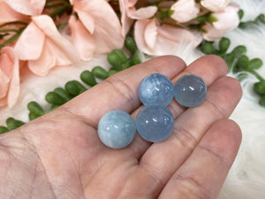 Contempo Crystals - Tiny Blue Aquamarine Crystal Spheres Large Size - Image 6