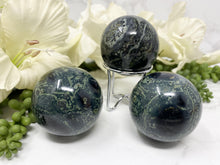 Load image into Gallery: Contempo Crystals - Green and Crocodile Jasper Crystal Sphere - Image 5