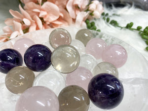 Contempo Crystals - Small Crystal Spheres - Quartz, Rose, Smoky & Amethyst - Image 7