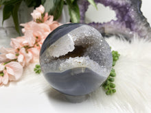Load image into Gallery: Contempo Crystals - Gray Agate Sphere - Image 4