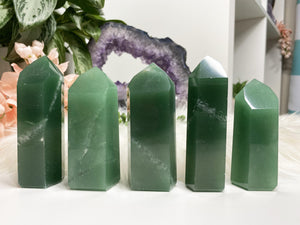 Contempo Crystals - Large Green Aventurine Crystal Points from Brazil - Image 1