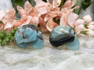 Contempo Crystals - Blue Amazonite Crystal Skull Sides - Image 6