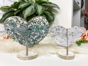 Contempo Crystals - Unique Amethyst Flower crystal hearts. Great raw crystal cluster cut into the heart shape. Protection, purification, and can also help promote a restful night of sleep. - Image 7
