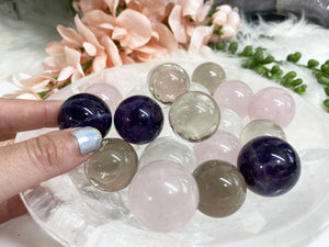 Contempo Crystals - Small Quartz Variety Crystal Spheres - Image 1