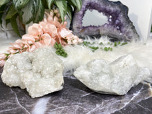 Load image into Gallery: Contempo Crystals - Cute sparkly apophyllite crystal clusters! Apophyllite helps you to start anew, and clear out past emotional traumas. It is a peaceful stone and one to bring great happiness. - Image 7