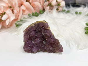 Contempo Crystals - Small Pink Purple Raw Fluorite Crystal Cluster - Image 4