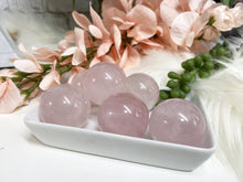 Load image into Gallery: Contempo Crystals - Small Rose Quartz Crystal Spheres - Image 3