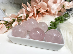 Contempo Crystals - Small Rose Quartz Crystal Spheres - Image 3