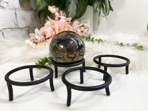 Contempo Crystals - Black Metal Sphere Stand - Image 3