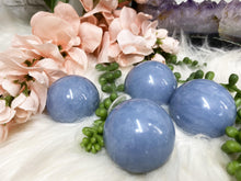 Load image into Gallery: Contempo Crystals - Blue Angelite Spheres - Image 4