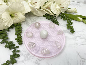 Contempo Crystals - Pink Glass Crystal Grid with Tumbles - Image 1