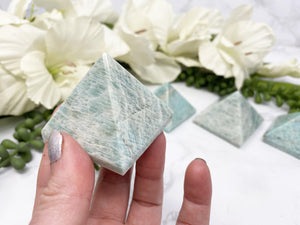Contempo Crystals - Light Blue Amazonite Crystal Pyramid - Image 2