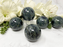 Load image into Gallery: Contempo Crystals - Green and Kambaba Jasper Crystal Sphere - Image 4