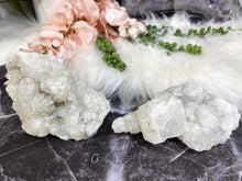 Load image into Gallery: Contempo Crystals - Cute sparkly apophyllite crystal clusters! Apophyllite helps you to start anew, and clear out past emotional traumas. It is a peaceful stone and one to bring great happiness. - Image 6