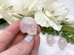 "Contempo Crystals - 1"" Rose Quartz Mini Crystal Skull from Contempo Crystals - Image 5"