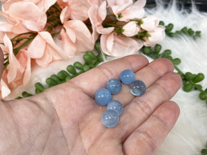 Contempo Crystals - Tiny Blue Aquamarine Crystal Spheres Small Size - Image 4