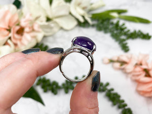 Contempo Crystals - Adjustable Amethyst Crystal Ring - Image 6