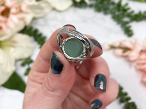 Contempo Crystals - Adjustable Green Aventurine Crystal Ring - Image 5