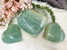 Load image into Gallery: Contempo Crystals - Green Pistachio Calcite Hearts - Image 3