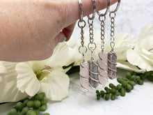 Load image into Gallery: Contempo Crystals - Rose Quartz or Lepidolite Keychain - Image 1