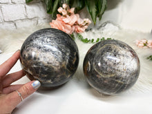 Load image into Gallery: Contempo Crystals - Gray Moonstone Spheres - Image 1