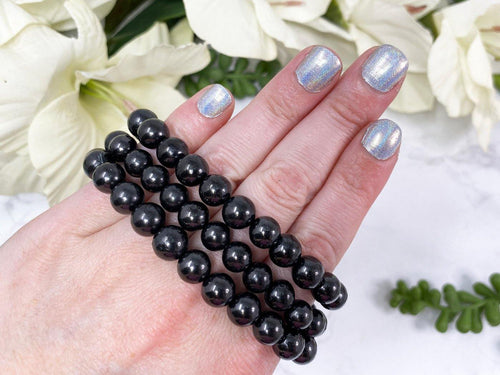 Shungite Beaded Mala Bracelet great for Protection, especially for Empaths