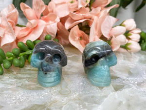 Contempo Crystals - Blue Amazonite Crystal Skull   Vibrant color of amazonite with contrast from other minerals!  - Image 1