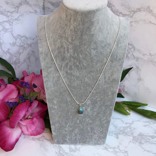 Labradorite Necklace. Carry your protective energies with you with these modern faceted labradorite necklace full of natural energy. Perfect necklace for travelers.