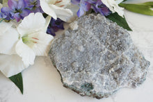 Load image into Gallery: Contempo Crystals - Large Lavender Quartz Plate. Amethyst flower crystal clsuter with purple, almost gray color. Mostly matte, except on the outer parts that feature a little druzy. - Image 1