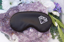 Load image into Gallery: Contempo Crystals - Crystal Sleeping Mask with 8 small crystal chips sewn onto a diamond patch. keep your protective energies close for an amazing night of sleep! Comes with a selenite slab - Image 1