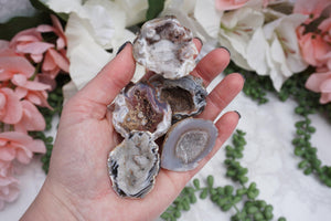 Contempo Crystals - Occo Quartz Geode Magnet. In hand - Image 2